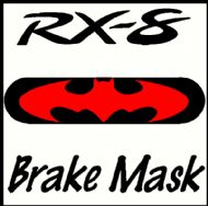 MAZDA RX-8 BATMAN BRAKE MASK DECAL
